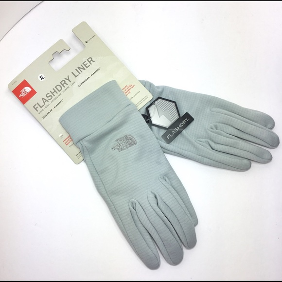 The North Face Other - The North Face Flashdry Liner Gloves XL Grey